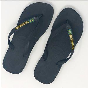 Havaianas | NWOT Brazil Black flip flop size 7/8